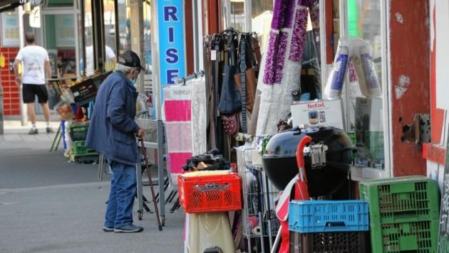 Im Bezirk Gries gibt es eine durchaus breite Einkaufspalette (Bild: Christian Jauschowetz)