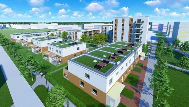 """2017 wurde der Bau eines neuen Fußballstadions beschlossen. Die alte Sportstätte weicht nun in den kommenden Jahren dem Projekt """"ein viertel grün"""" mit 495 neuen Wohnungen, die das Land und die Stadt mit drei Wohnbauträgern realisieren. (Bild: SMP-ZT . ACT-WN)"""