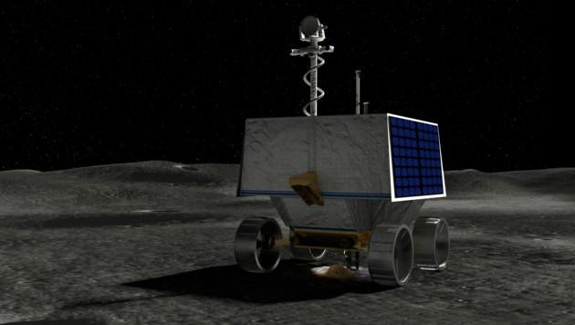 Künstlerische Illustration: Der NASA-Rover VIPER auf der Mondoberfläche (Bild: AFP/NASA)