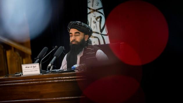 Taliban-Sprecher Zabihullah Mujahid (Bild: AP)