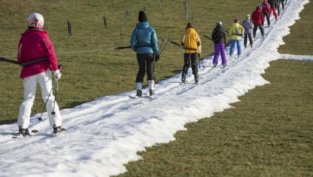 Der Skitourismus zählt zu den ersten Klimawandel-Opfern (Bild: Roland Mühlanger)