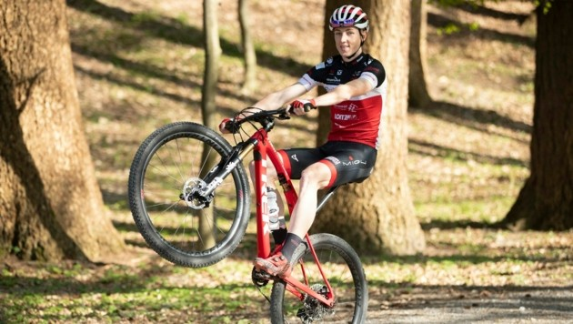 Kilian Feurstein kann künftig den Fokus ganz auf den Mountainbike-Sport legen. (Bild: Maurice Shourot)