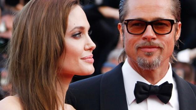 Angelina Jolie und Brad Bitt (Bild: GUILLAUME HORCAJUELO / EPA / picturedesk.com)