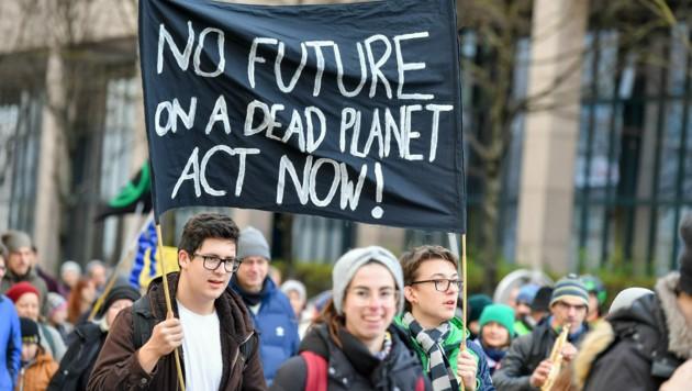 2019: Letzer weltweiter Klimastreik in Linz (Bild: Harald Dostal)