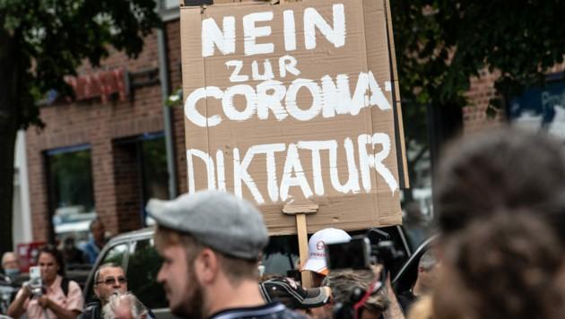 Demo in Deutschland gegen die Corona-Maßnahmen (Archivbild) (Bild: AFP)