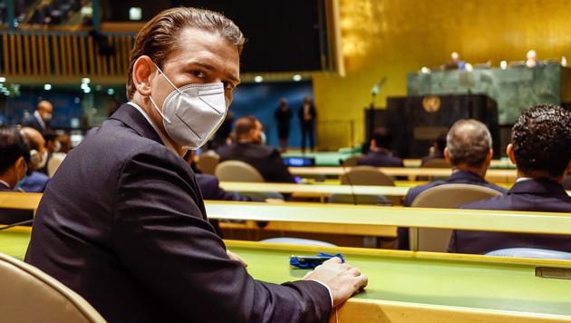 Anfang September von einem Richter befragt, derzeit auf USA-Reise im Rahmen der UNO-Vollversammlung: Bundeskanzler Sebastian Kurz (Bild: Arno Melicharek)
