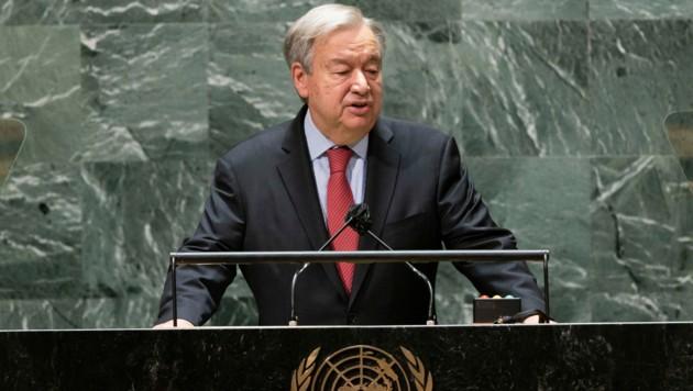 UN-Generalsekretär Antonio Guterres (Bild: AFP)