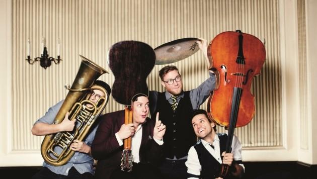 The Erlkings sind ein junges, energiegeladenes Musikquartett. (Bild: Julia Wesely)