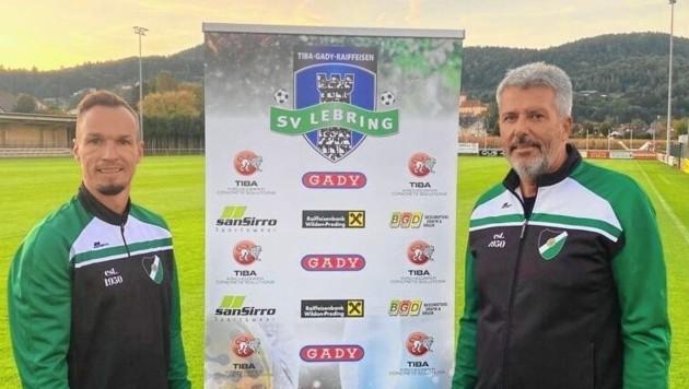 Hermann Kern (re.) mit seinem Co-Trainer René Gsellmann. (Bild: SV Lebring)