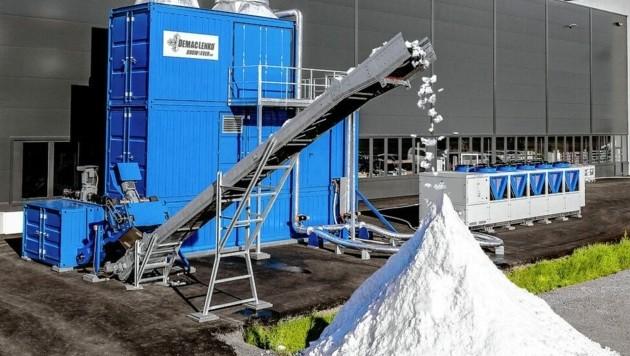 """Die """"Snow4Ever 200"""" kann ganzjährig bei jeder Temperatur bis zu 200 Kubikmeter Schnee produzieren. (Bild: Leitner Group)"""
