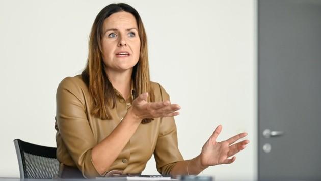 Maria Pernegger von Media Affairs in Losenstein. (Bild: Alexander Schwarzl)