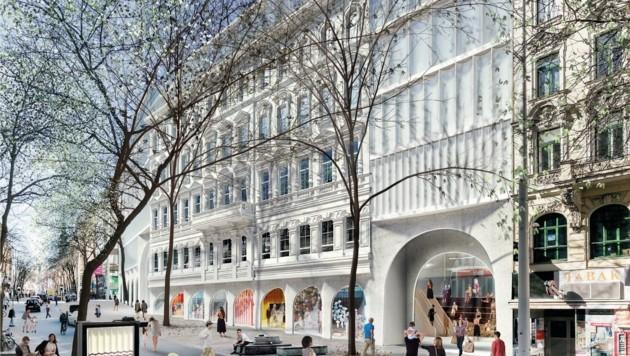 Luxus-Einkaufstempel: So soll das KaDeWe nach den Plänen des Projektbetreibers aussehen. (Bild: Signa)