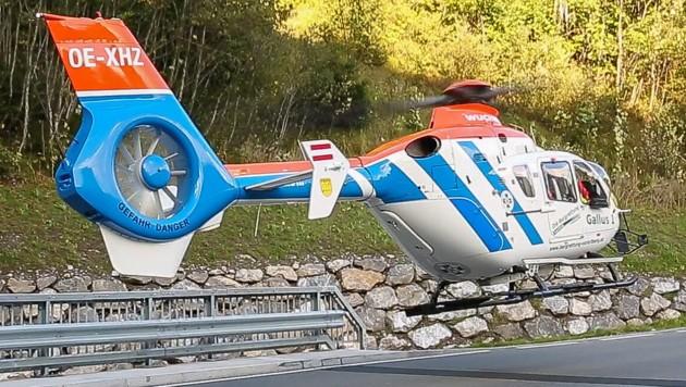 Rettungshubschrauber Gallus 1 musste am Samstag ausrücken. (Bild: Bernd Hofmeister)