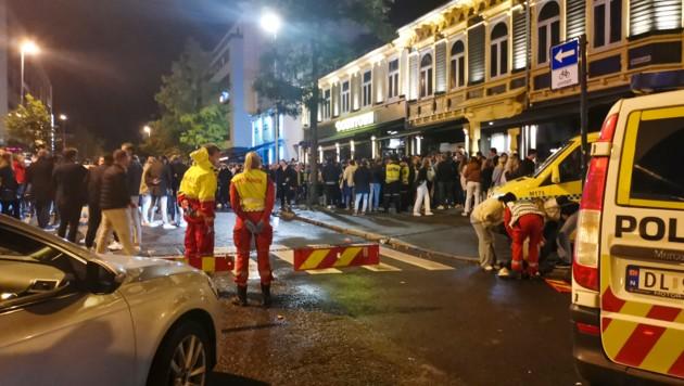 In Trondheim kam es zu Ausschreitungen, dabei gab es auch Verletzte. (Bild: AP/ Joakim Halvorsen / NTB)
