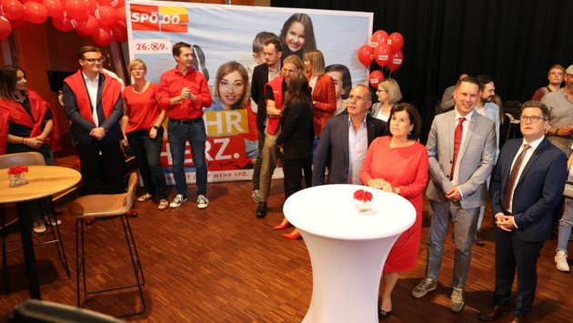 Bei der SPÖ hofft noch auf den zweiten Platz (Bild: APA/Team Fotokerschi)