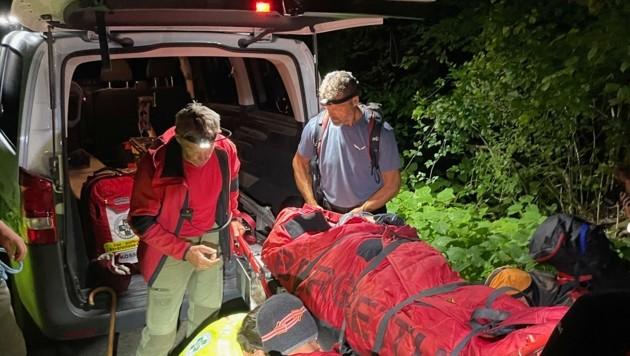 Bergretter brachten die Seniorin ins Tal. (Bild: ZOOM.TIROL)