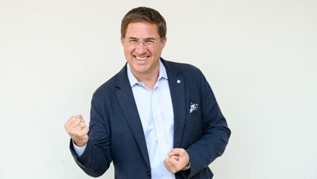 Stadtchef Andreas Rabl freute sich über das klare Ergebnis. (Bild: Wenzel Markus)