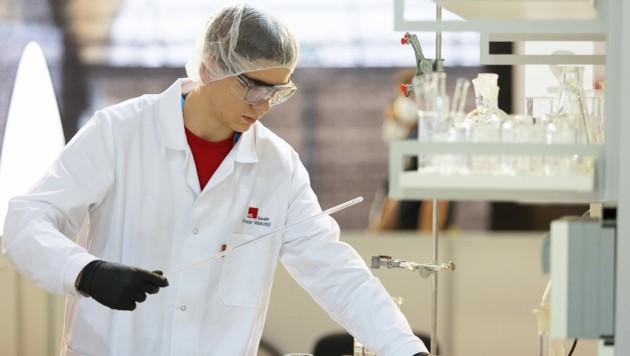 Peter Wakonigg aus Dornbirn holte Euro Skills-Gold im Bereich Chemielabortechnik. (Bild: WKÖ/SkillsAustria/Barbara Lachner)