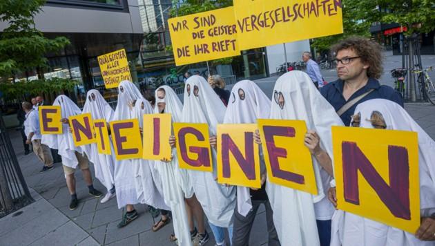 """Die Initiative """"Deutsche Wohnen & Co enteignen"""" konnte die Wähler in Berlin von ihrem Anliegen überzeugen. (Bild: AFP)"""