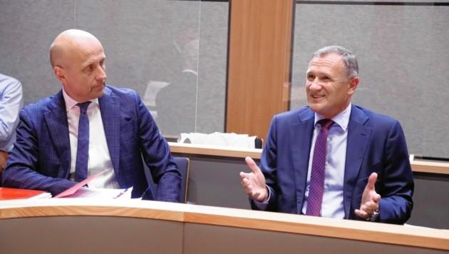 Richard Seeber (rechts) mit seinem Anwalt (Bild: Christof Birbaumer / Kronenzeitung)
