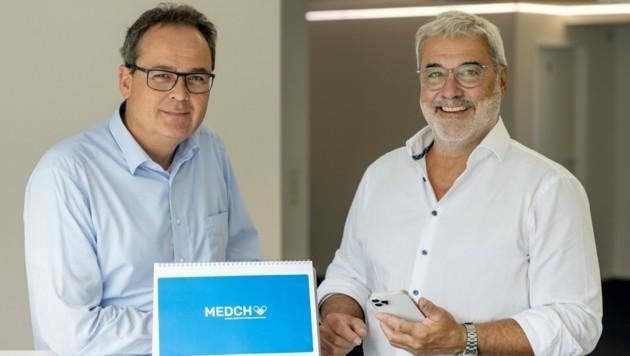 Krebsspezialist Wolfgang Hilbe (l.) und Gerhard Feilmayr gründeten die Lernplattform. (Bild: MEDCH GmbH)