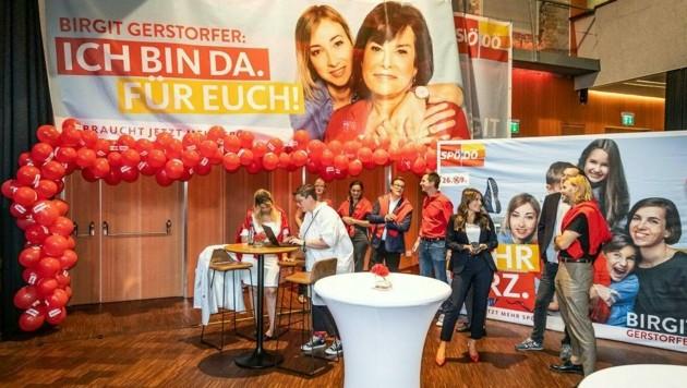 Lange Gesichter bei der SPÖ Oberösterreich nach dem schwachen Abschneiden bei der Landtagswahl (Bild: APA/TEAM FOTOKERSCHI)