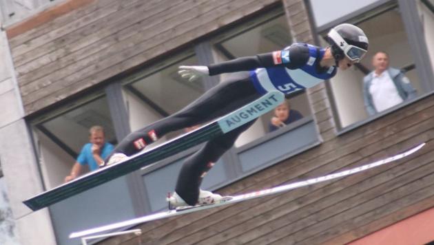 Der Dornbirner André Fussenegger liegt in dieser Saison großartig in der Luft. (Bild: Kinga Stanaszek)