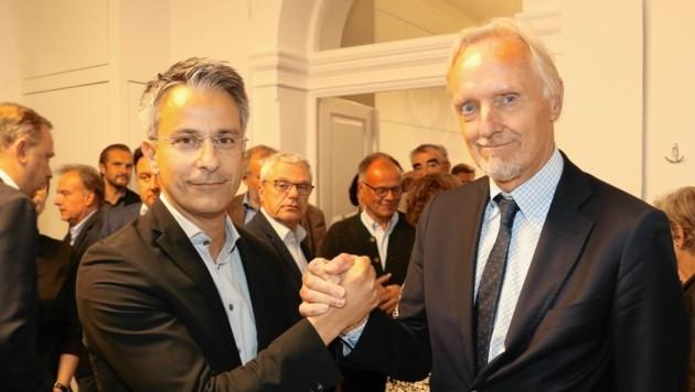 Kurt Hohensinner und Günter Riegler (Bild: Christian Jauschowetz)
