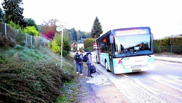 Diese Bushaltestelle soll ein Wartehäuschen erhalten. (Bild: Sobe Hermann)