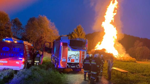 Die FF Liebenfels wurde am Wochenende bei einem Einsatz beschimpft. (Bild: zVg/FF Liebenfels)