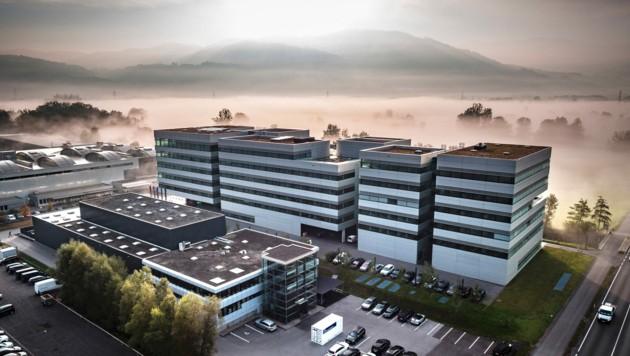 Der Hauptsitz des Vorarlberger Seilbahnherstellers Doppelmayr in Wolfurt. (Bild: Doppelmayr Seilbahnen GmbH/www.fasching.photo)