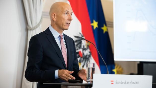 Arbeitsminister Martin Kocher (Bild: APA/BKA/CHRISTOPHER DUNKER)