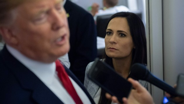 Ein Jahr lang war Stephanie Grisham Trumps Sprecherin - eine Pressekonferenz hat sie in dieser Zeit nie gehalten. In ihrem Buch verrät sie, warum nicht. (Bild: AFP)