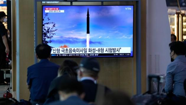 Auch in Südkorea wurden die Fernsehbilder gezeigt. (Bild: AP)