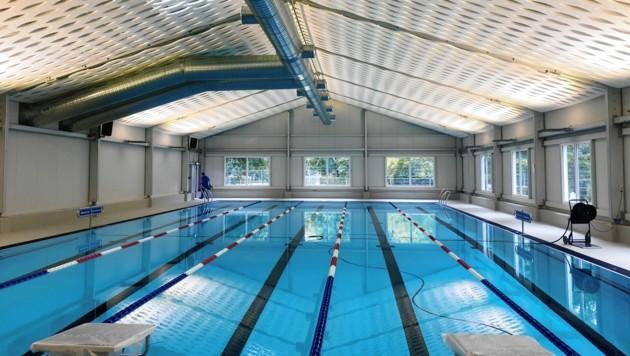 So soll das temporäre Schwimmbad aussehen. Heute wird von den STW der Standort fixiert. (Bild: Goll Studioga)