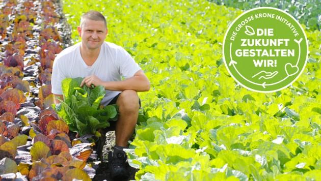 Vor fünf Jahren hat Obmann Josef Posch die Landwirtschaft von seinem Vater übernommen. (Bild: Christof Birbaumer Krone KREATIV)