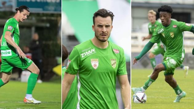 Jean Hugonet, Haris Tabakovic und Muhammed Cham sind haben sich bisher bei der Austria besonders ins Rampenlicht gepspielt. (Bild: Maurice Shourot / Gepa Pictures Mario Buehner)