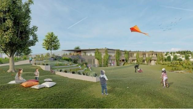 Für eine lebenswerte Zukunft, wird der vierte Kindergarten in Neusiedl klimaaktiv sein (Bild: H2Arch)