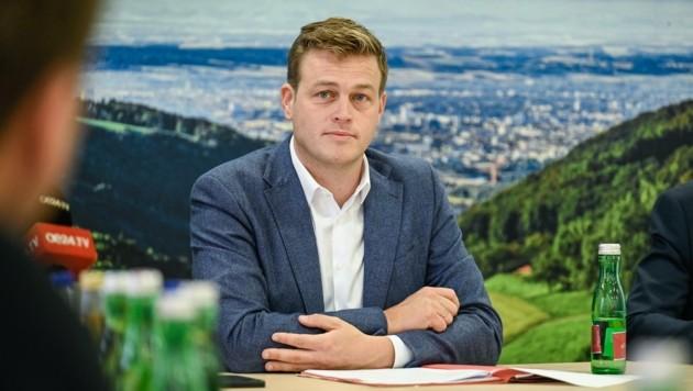 Stefan Kaineder möchte eine Rückkehr zu Schwarz-Grün (Bild: Alexander Schwarzl)