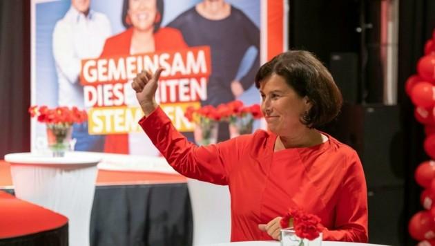 SPÖ-Chefin Birgit Gerstorfer steht für Schwarz-Rot bereit (Bild: TEAM FOTOKERSCHI)