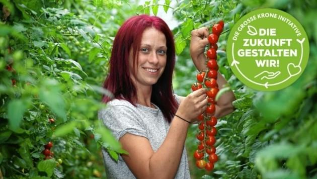 """Irene Gombotz, Sprecherin der """"Jungen, wilden Gemüsebauern"""", möchte den Steirern die Produkte und Produzenten """"nahbar"""" machen. (Bild: Jürgen Radspieler)"""