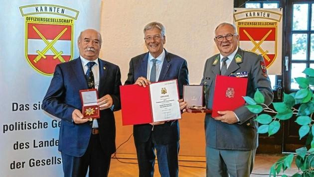 Vollversammlung des Offiziersgesellschaft Kärnten mit der Verleihung eines Großes Goldenes des Landes (Bild: © LPD Kaernten   Walter Szalay)