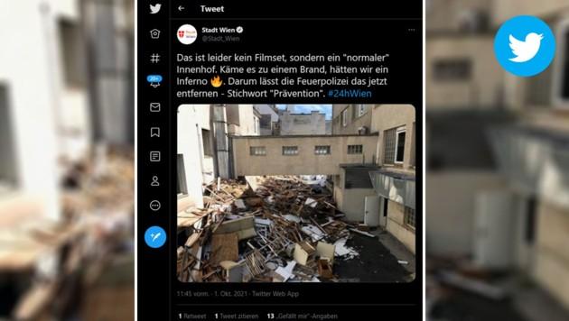 (Bild: Krone KREATIV, Screenshot twitter.com/Stadt_Wien)