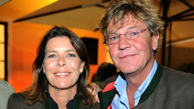 Ein Bild von früher mit seiner Noch-Ehefrau Caroline von Monaco. (Bild: klemens fellner)