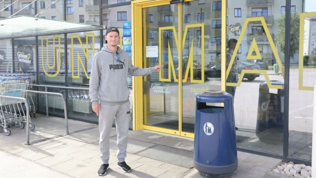 Attila Kovacs (32) stellte sich dem jungen Räuber-Duo in den Weg, konnte einen fixieren. (Bild: Scharinger Daniel)