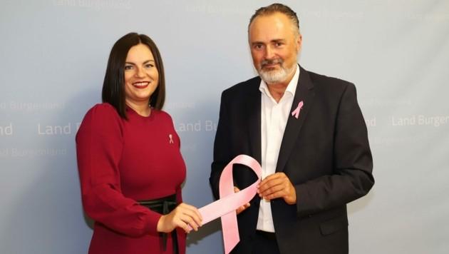 Landeshauptmann Doskozil setzt gemeinsam mit Landeshauptmann-Stellvertreterin Eisenkopf ein wichtiges Zeichen. (Bild: LMS)