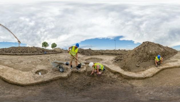 Archäologen arbeiten eng mit der ÖBB zusammen, die künftige Bahntrasse wurde untersucht. (Bild: ÖBB/Florian Frey)