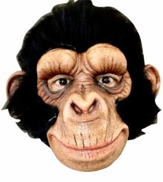 Das Gesicht hinter einer Affenmaske versteckt, hantelt sich ein Unbekannter von Garten zu Garten. (Bild: Christian Schulter)
