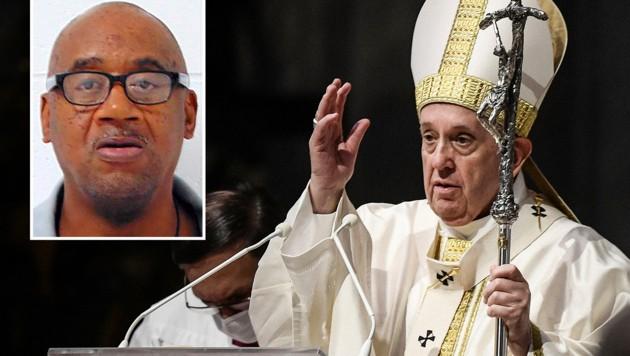 Papst Franziskus kämpft um das Leben des verurteilten Mörders Ernest Johnson (kl. Bild). (Bild: AP, krone KREATIV)