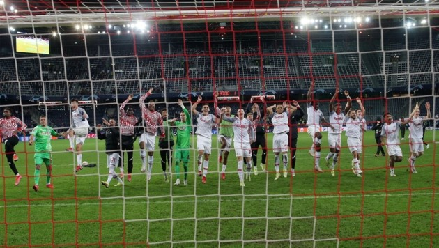 Salzburgs Spieler kamen zuletzt kaum aus dem Jubeln raus. (Bild: krugfoto/Krug Daniel sen.)